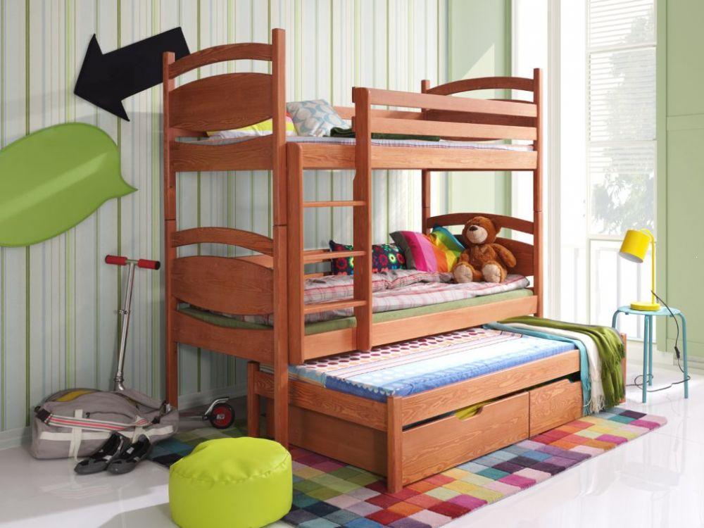 Łóżko piętrowe potrójne Cezary