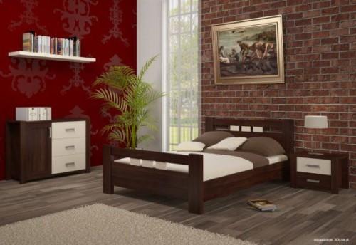 Polskie łóżko drewniane