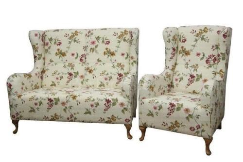 Sofa stylowa w kwiaty