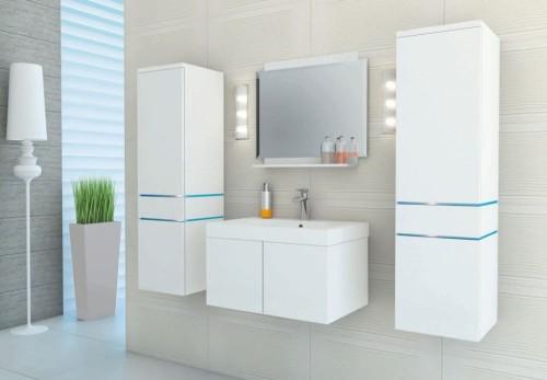 Białe szafki łazienkowe Zoya