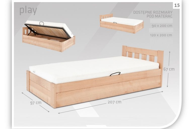 Łóżko bukowe Play