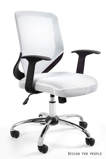 Biały fotel biurowy Mobi