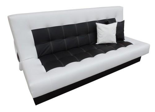 Rozkładana sofa pikowana