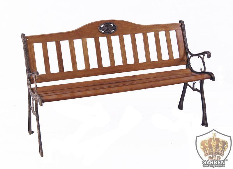 Drewniana ławka do ogrodu Pola