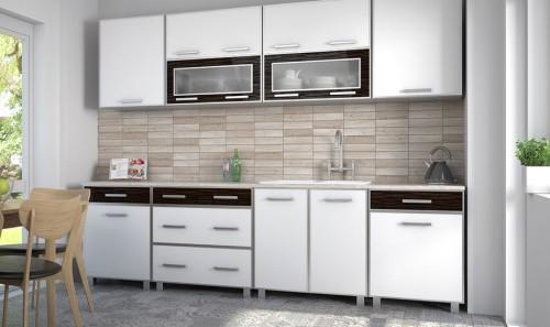 Białe meble kuchenne w połysku Irena