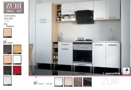 Białe fronty kuchenne z połyskiem Zuri