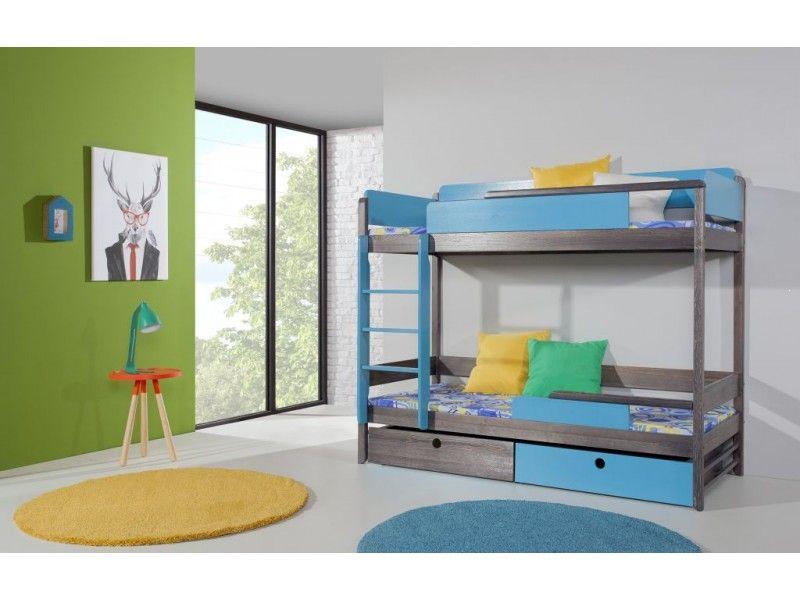 Łóżko piętrowe drewniane Natu II