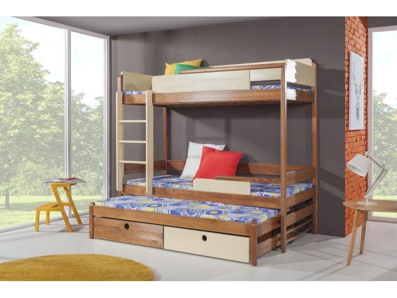 Łóżko piętrowe potrójne Natu III