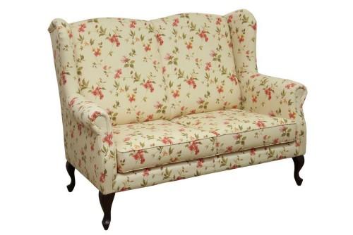 Stylizowana sofa w kwiaty