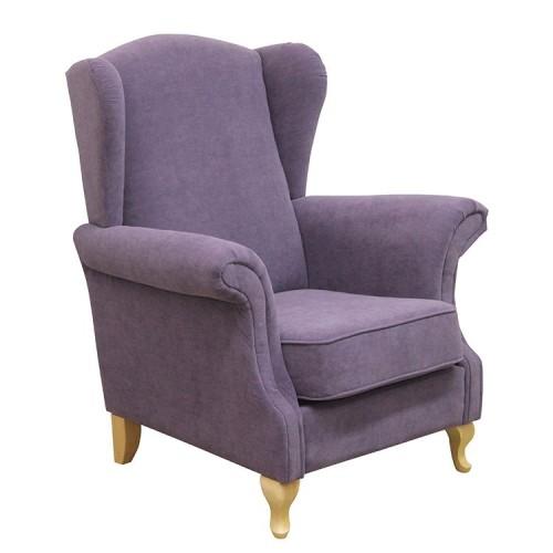 Wygodny fotel uszak Justina tkanina Astoria