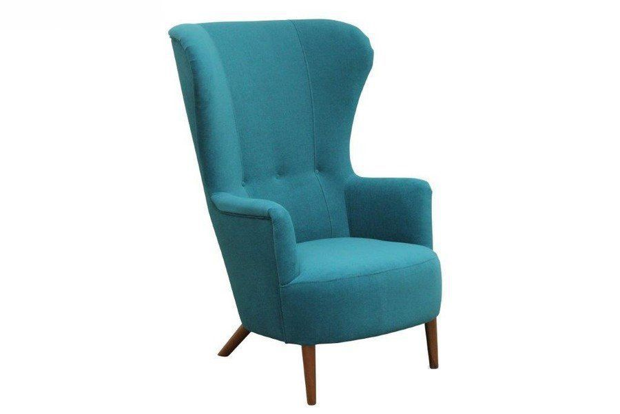 Fotel tapicerowany z tkaniny powierzonej