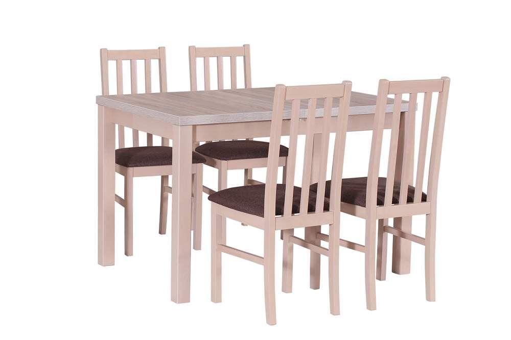 Stół drewniany Max z krzesłami Boss