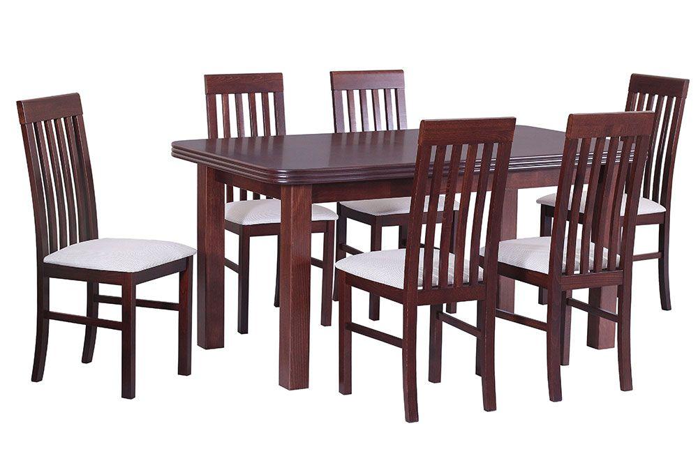 Stół drewniany Wenus z krzesłami Nilo
