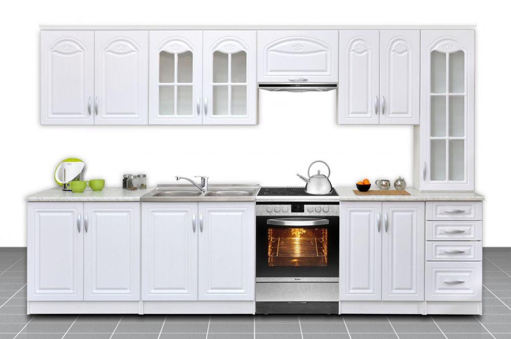 Zestaw mebli kuchennych Agata 300 cm fronty MDF  PLMEBLE PL -> Kuchnie Szklane Fronty Opinie