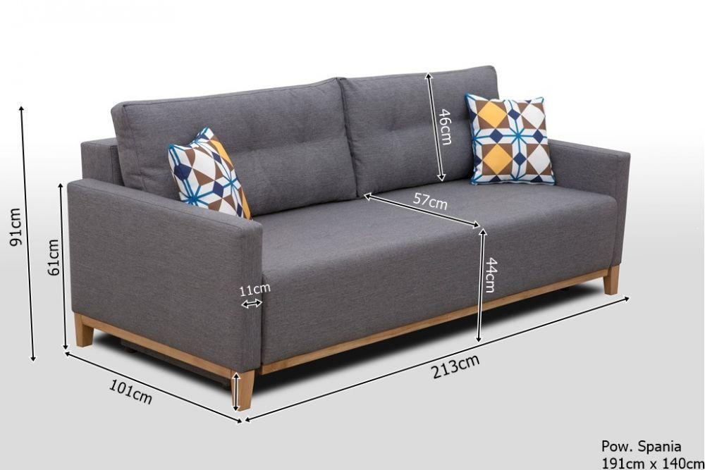 Sofa rozkładana w stylu skandynawskim