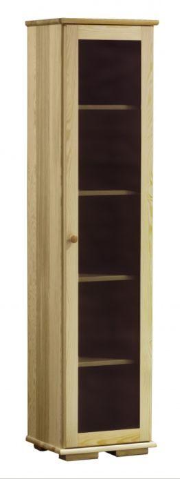Witryna drewniana z półkami Modern