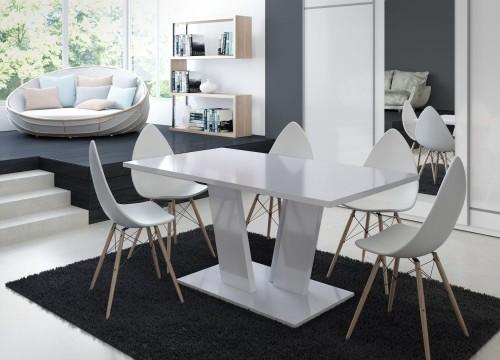 Nowoczesny biały stół Voice