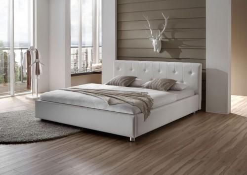 Łóżko tapicerowane pikowane