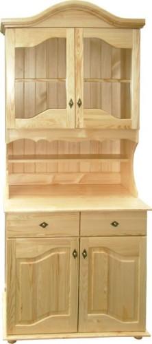 Kredens witryna drewniana z półkami