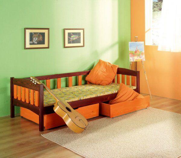 Łóżko parterowe drewniane Zuza