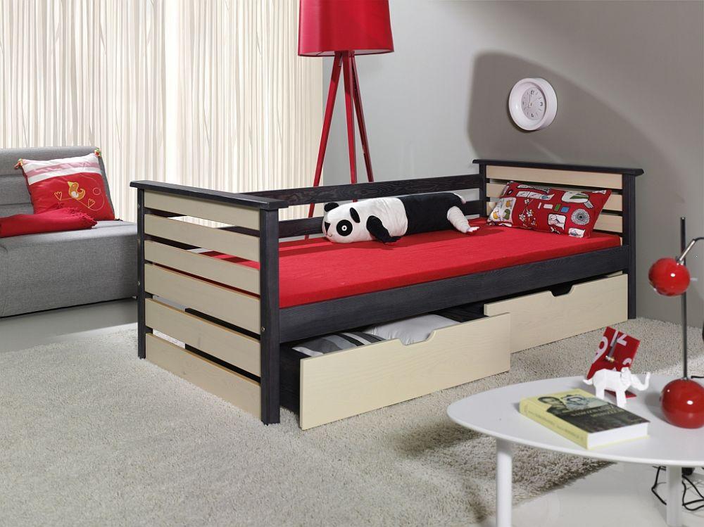 Łóżko jednoosobowe drewniane