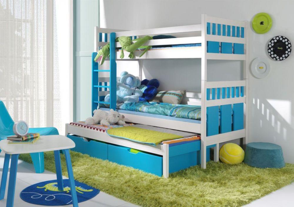 Trzyosobowe łóżko piętrowe