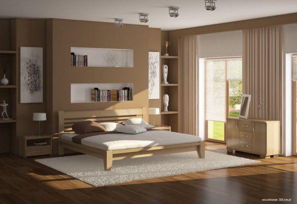 Łóżko drewniane z drewna bukowego