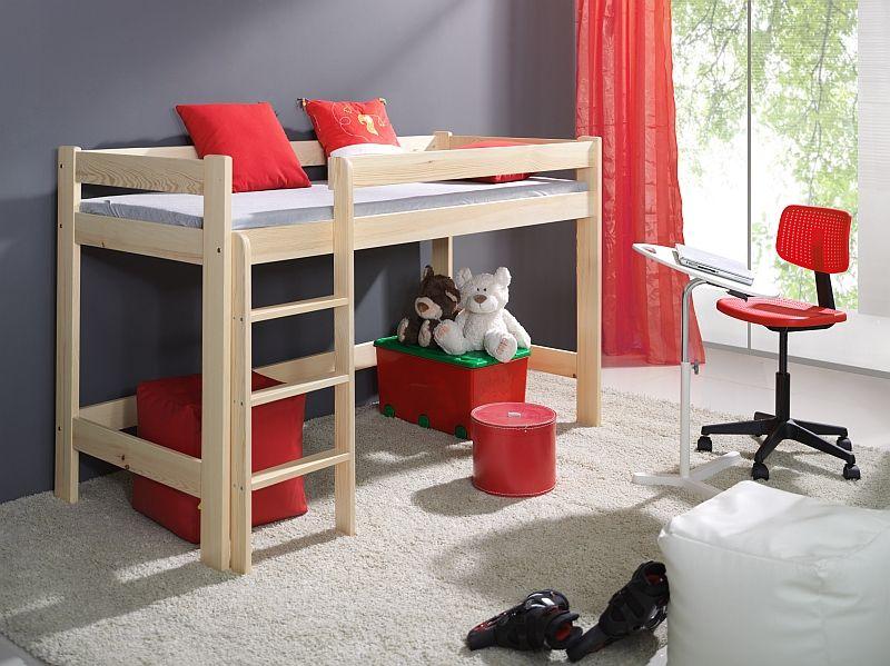 Drewniane łóżko na antresoli Laura
