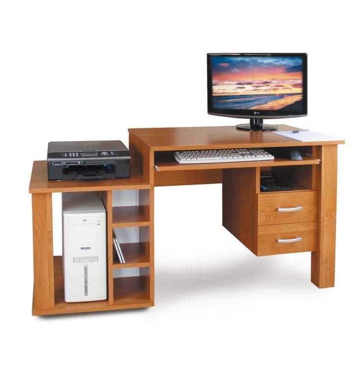 Biurko komputerowe z szufladami i półkami 61