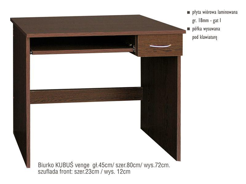 Klasyczne biurko z wysuwaną półką