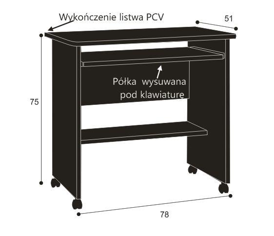 Biurko komputerowe z półką na drukarkę Zbyszek