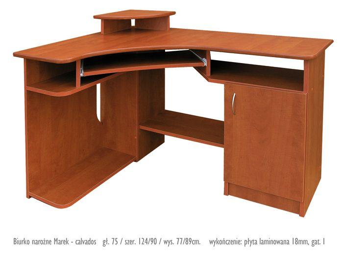 Narożne biurko z nadstawką Marek