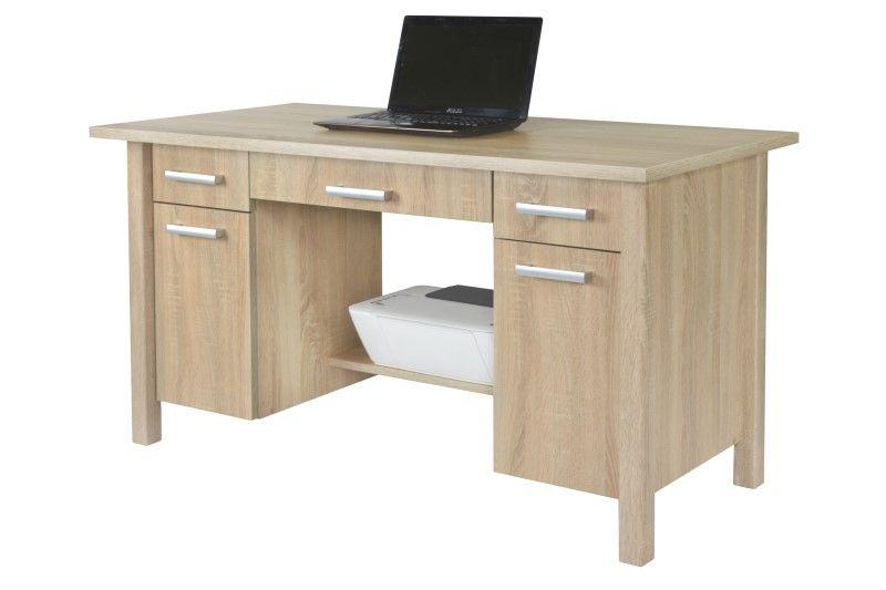 Eleganckie biurko z szafkami