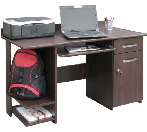 Biurko komputerowe z wysuwaną półką na klawiaturę Alfa