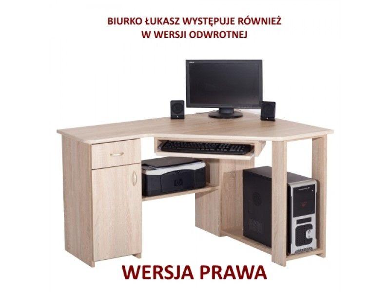 W superbly Biurko komputerowe narożne z szafką i szufladą Łukasz 2 | PLMEBLE.PL MT37