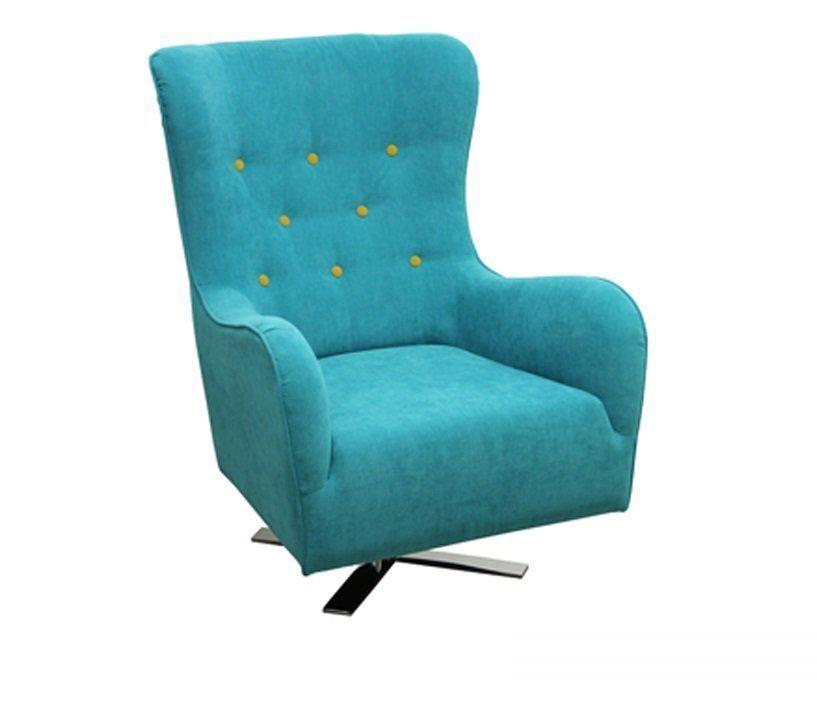 Modernistyczne Fotel tapicerowany uszak obrotowy Julia | PLMEBLE.PL YZ52