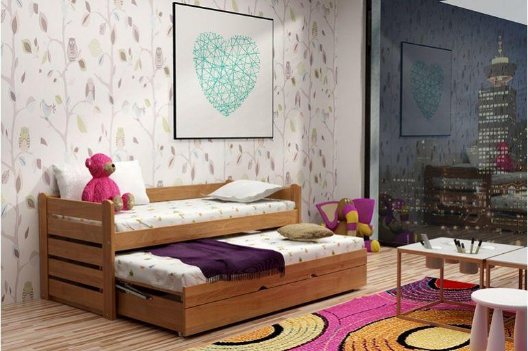 Łóżko bukowe dwuosobowe
