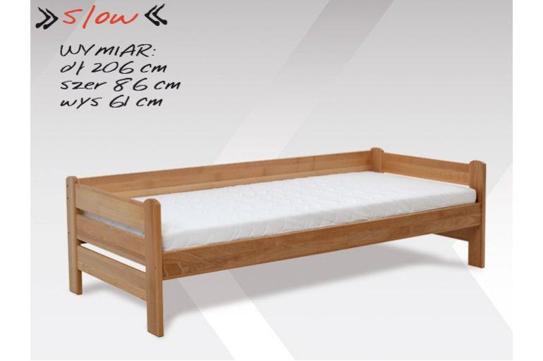Drewniane łóżko ze stelażem Słow
