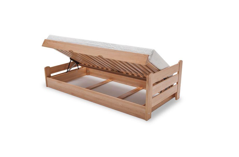 Stabilne łóżko bukowe