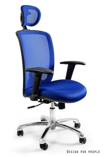 Fotel biurowy Expander niebieski