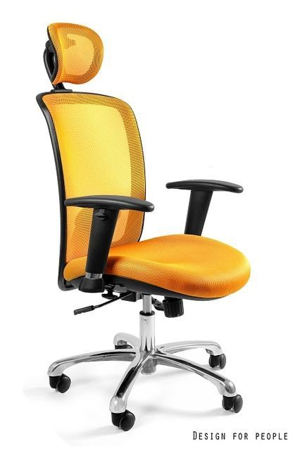 Fotel biurowy żółty