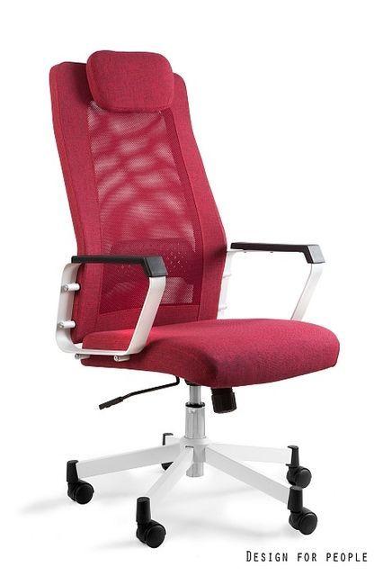 Biurowy fotel czerwony regulowany