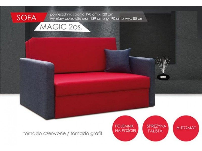 Dwuosobowa sofa Magic