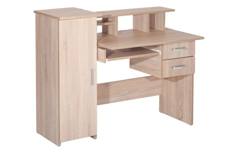 Biurko komputerowe z szufladami szafką i półkami Robson