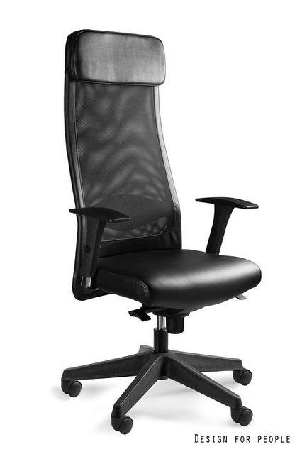 Fotel biurowy naturalna skóra
