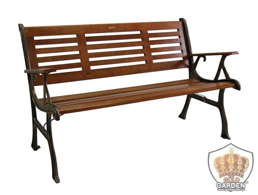 Drewniana ławka do ogrodu