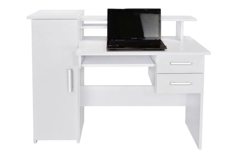 Białe biurko z szufladą Robson