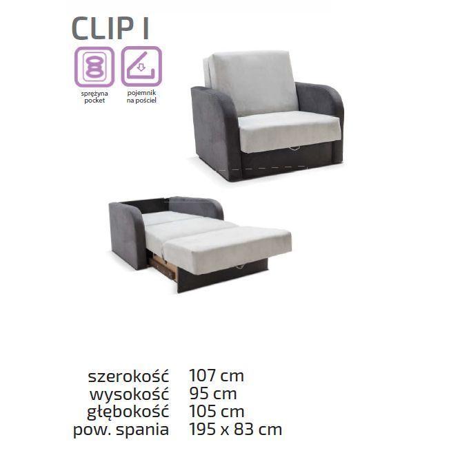 Fotel do hotelu 1 osobowy Clip