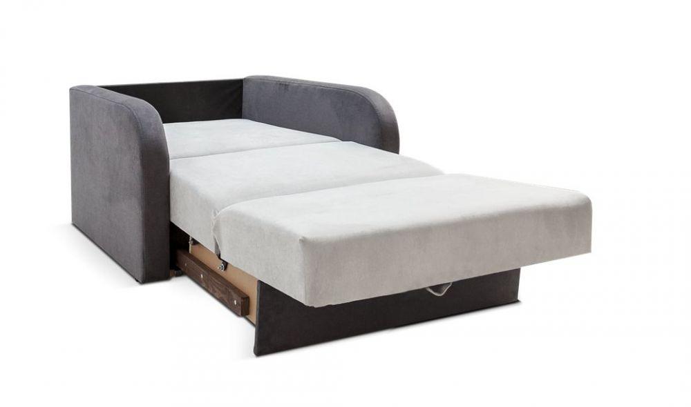 Sofa Rozkładana Tapicerowana Clip 1 Osobowa Po Rozłożeniu