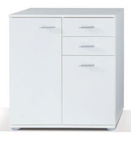 Komoda z dwiema szafkami Lord kolor biały